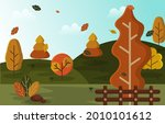 autumn fall season countryside...   Shutterstock .eps vector #2010101612