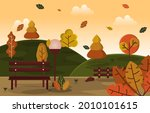 autumn fall season countryside...   Shutterstock .eps vector #2010101615