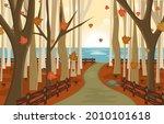 autumn fall season countryside...   Shutterstock .eps vector #2010101618
