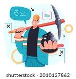 miner worker man character... | Shutterstock .eps vector #2010127862