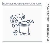 gardening line icon. plants... | Shutterstock .eps vector #2010137972