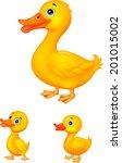 Duck Family Cartoon