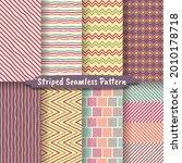 hand drawn striped seamless... | Shutterstock .eps vector #2010178718