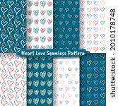 set of heart love hand drawn... | Shutterstock .eps vector #2010178748