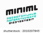 minimal style font design ... | Shutterstock .eps vector #2010207845