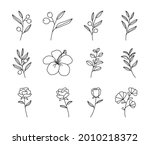 bouquet of olives doodle in...   Shutterstock .eps vector #2010218372