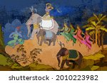 ancient frescoes. traditional... | Shutterstock .eps vector #2010223982
