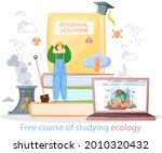 free course of studying ecology ...   Shutterstock .eps vector #2010320432