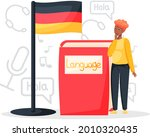 language classes online with...   Shutterstock .eps vector #2010320435