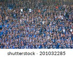 blurred crowd of spectators on... | Shutterstock . vector #201032285
