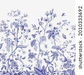 mural. bloom. chinoiserie... | Shutterstock .eps vector #2010333692
