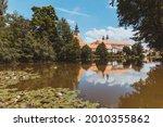 telc in summer  old town. czech ... | Shutterstock . vector #2010355862