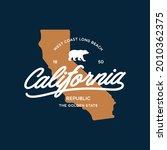 california stylish graphic t...   Shutterstock .eps vector #2010362375