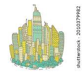 isolated big city metropolis...   Shutterstock .eps vector #2010379982