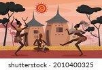 african people dance on ethnic... | Shutterstock .eps vector #2010400325