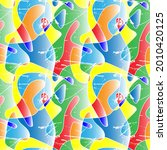 seamless colorful artwork with... | Shutterstock .eps vector #2010420125