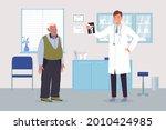 elderly man at doctors...   Shutterstock .eps vector #2010424985