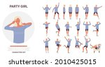 young woman poses on dance...   Shutterstock .eps vector #2010425015