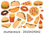 fast food restaurant menu set... | Shutterstock .eps vector #2010425042