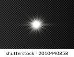 set of white glowing light...   Shutterstock .eps vector #2010440858
