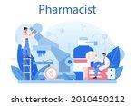 pharmacy concept. pharmacist... | Shutterstock .eps vector #2010450212