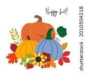fall vector pumpkin arrangement ...   Shutterstock .eps vector #2010504218