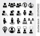 human management set. | Shutterstock .eps vector #201054332
