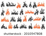 set of doodle flame. collection ... | Shutterstock .eps vector #2010547808