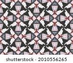 Acrylic Geometric Pattern. Grey ...