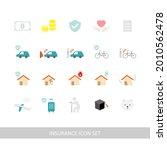 insurance illustration icon set ... | Shutterstock .eps vector #2010562478