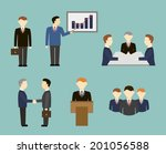 business people in flat style  | Shutterstock .eps vector #201056588