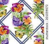 wild flowers seamless pattern... | Shutterstock .eps vector #201059072