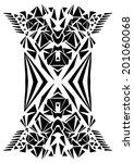 tribal geometric print | Shutterstock .eps vector #201060068