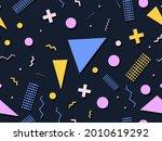 80s geometric seamless pattern... | Shutterstock .eps vector #2010619292
