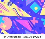 80s geometric seamless pattern... | Shutterstock .eps vector #2010619295