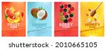 set of labels with fruit and... | Shutterstock .eps vector #2010665105