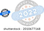 mesh made in 2022 stamp model... | Shutterstock .eps vector #2010677168