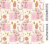 abstract leopard cat seamless...   Shutterstock .eps vector #2010680192
