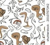 minimal human face drawing ...   Shutterstock .eps vector #2010707342