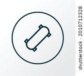 skateboard icon line symbol....   Shutterstock .eps vector #2010712328