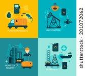 oil industry business concept... | Shutterstock .eps vector #201072062