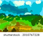sloppy abstract summer... | Shutterstock .eps vector #2010767228