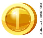gold medal coin number 1 symbol.... | Shutterstock .eps vector #2010918848