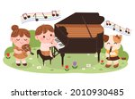 children are having a music...   Shutterstock .eps vector #2010930485