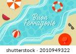 buon ferragosto concept with... | Shutterstock .eps vector #2010949322