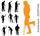 vector silhouettes of people... | Shutterstock .eps vector #201097442