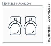 yukata shoes line icon....   Shutterstock .eps vector #2010982838
