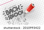 back to school banner. doodle... | Shutterstock .eps vector #2010993422