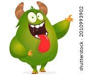 funny cartoon smiling furry... | Shutterstock .eps vector #2010993902