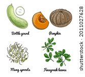 vector food icons of fruits....   Shutterstock .eps vector #2011027628